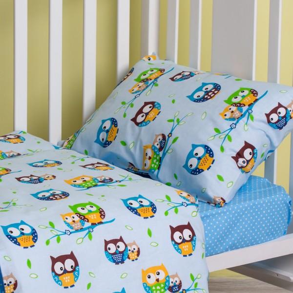 Комплект детского белья SoundSleep Fantastic Owls голубой