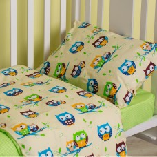 Baby linen SoundSleep Fantastic Owls green