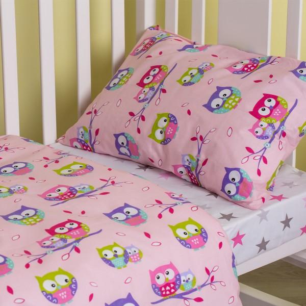 Комплект детского белья SoundSleep Fantastic Owls розовый