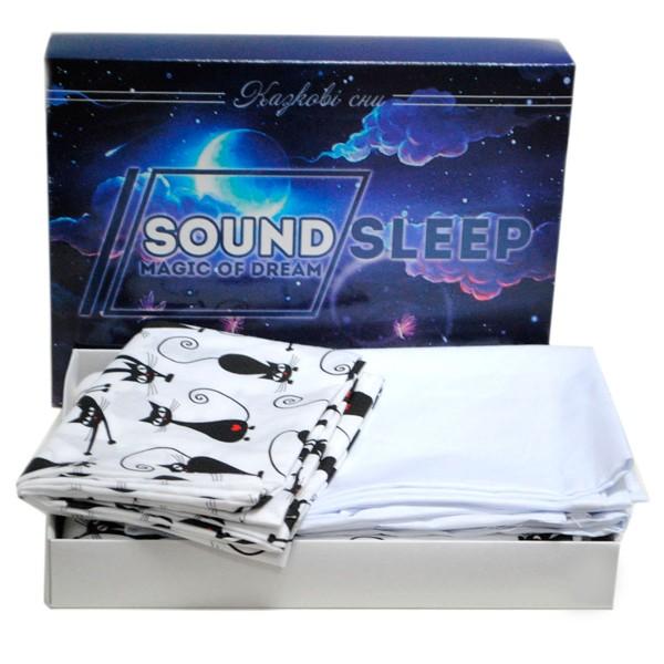 Комплект детского белья SoundSleep Cute Kitty белый