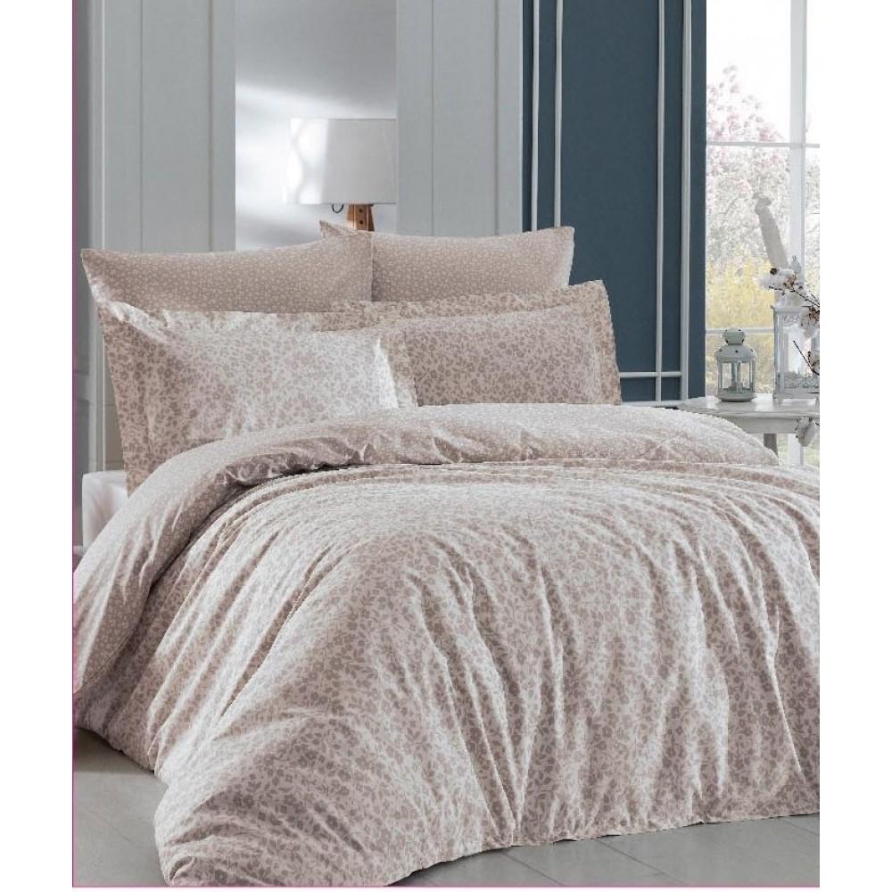 Комплект постельного белья SoundSleep Elenora ранфорс евро beige