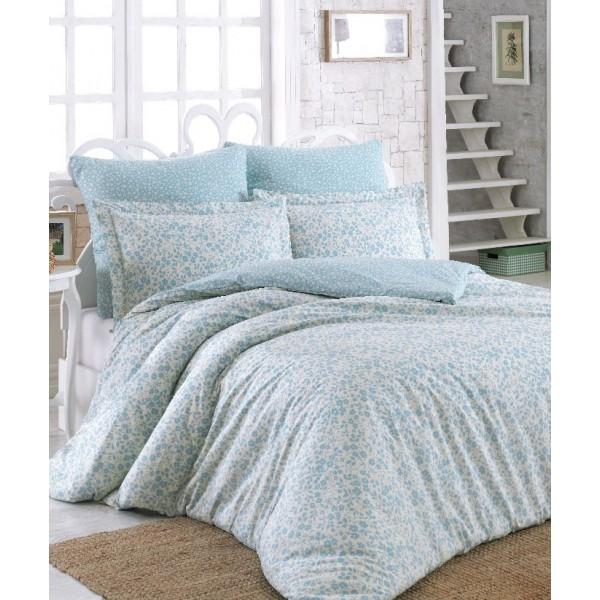 Комплект постельного белья SoundSleep Elenora ранфорс полуторный Blue