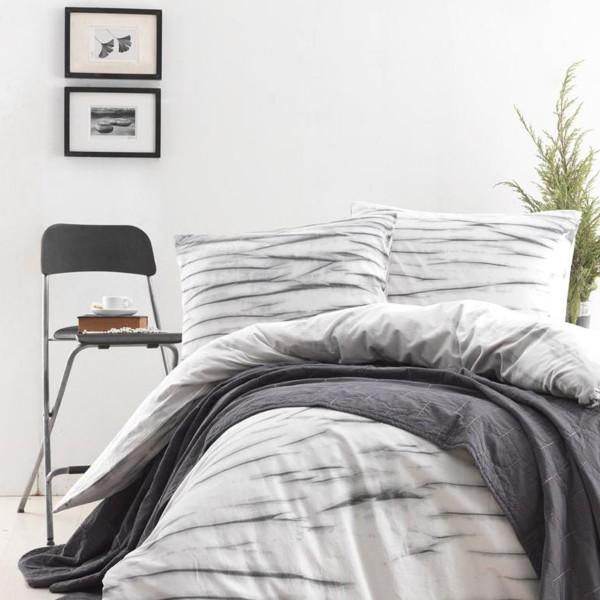 Комплект постельного белья SoundSleep La Calin поплин евро серый