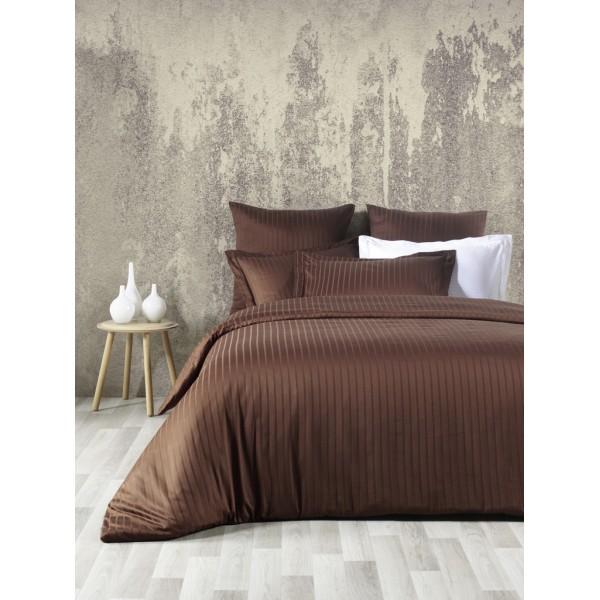 Комплект постельного белья SoundSleep Line сатин-жаккард евро Kahve