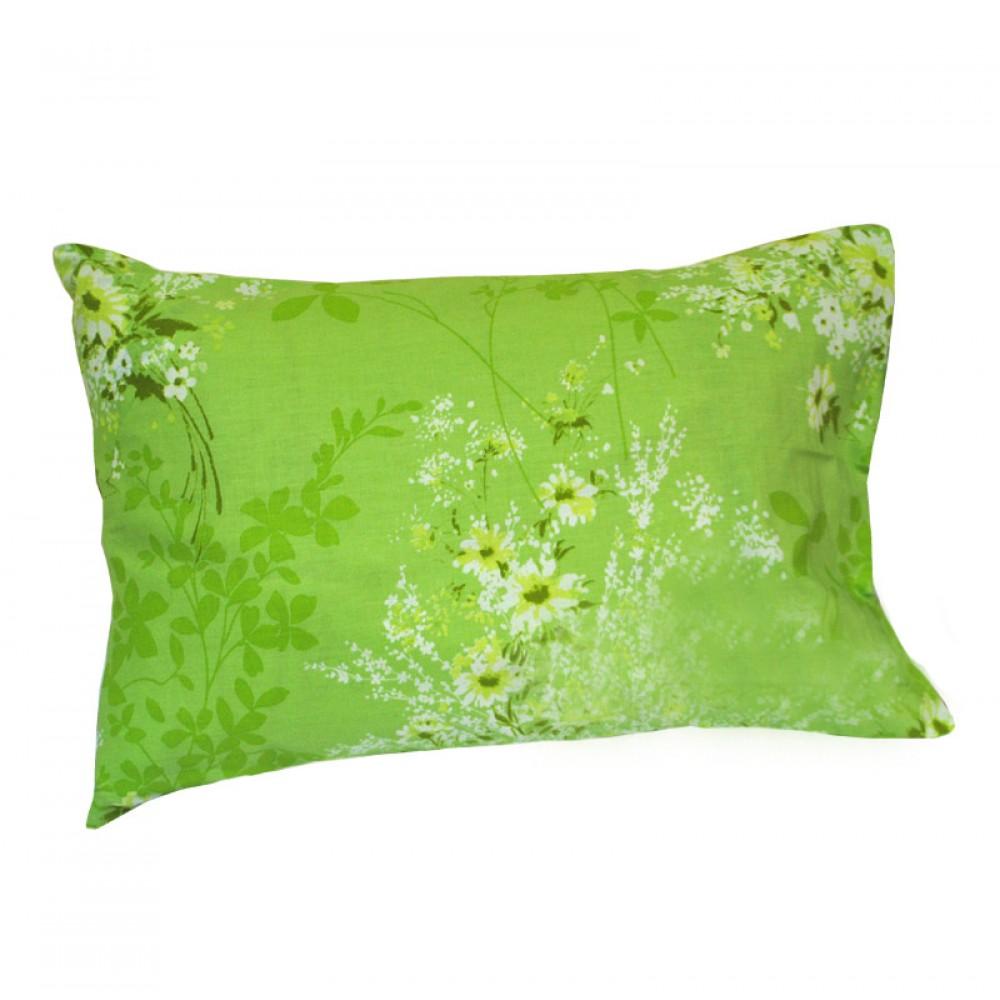 Комплект наволочек поплин SoundSleep Summer bouquet L-1581-1 зеленый 70х70 см
