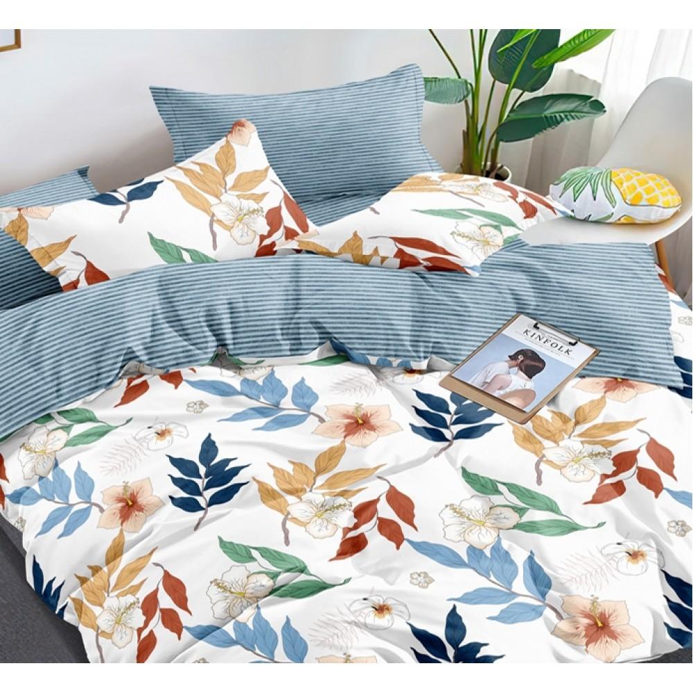 Комплект наволочек из сатина Colorful leaves SoundSleep 40х60 см