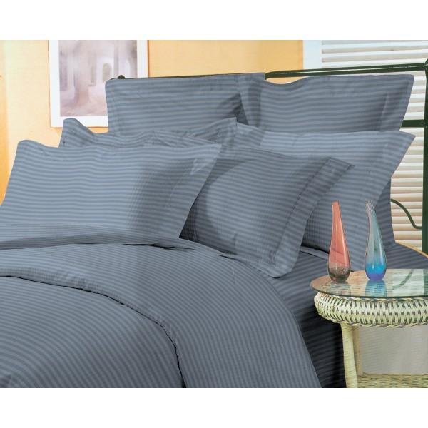 Комплект наволочек Stripe Graphite SoundSleep сатин-страйп графит 70х70 см