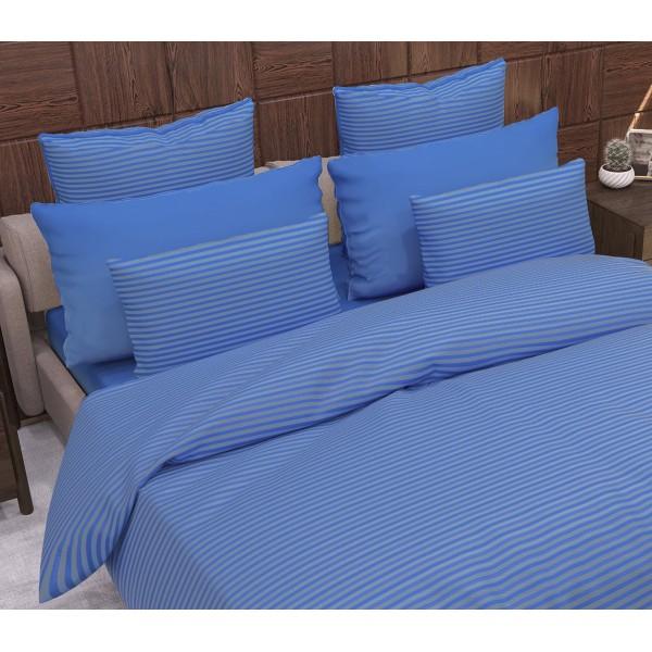 Комплект наволочек Stripe Navy Blue SoundSleep сатин-страйп синий 70х70 см