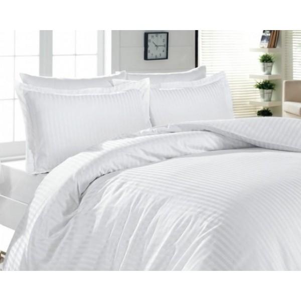 Комплект наволочек с ушками SoundSleep отель сатин-страйп белый 50х70 см - 2шт