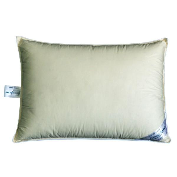 Подушка 10% пуха SoundSleep Sleep and Go оливковая 50х70 см