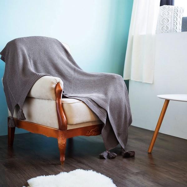 Плед SoundSleep Olvia вязаный 140х180 см коричневый