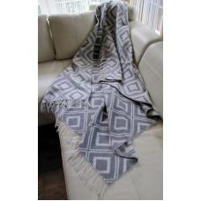 Plaid Vladi Emerald jacquard woolen 140x200 cm gray 21335
