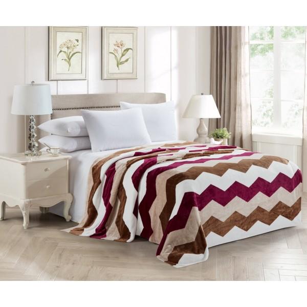 Fleece blanket SoundSleep Graph bordo 200x220 cm