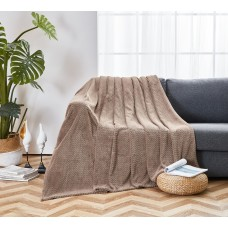 Fleece blanket SoundSleep Cosiness beige 150x210 cm
