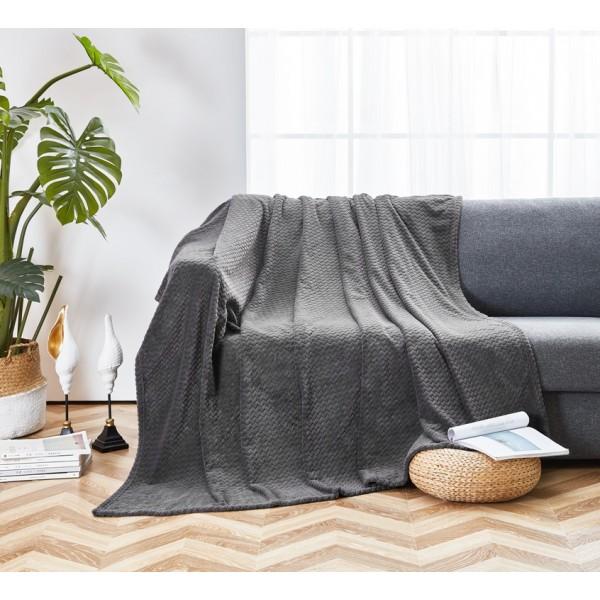 Плед флисовый SoundSleep Cosiness dark grey темно-серый 150х210 см