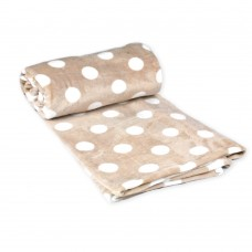 Fleece blanket Sweet TM Emily cream with polka dots 150х210 cm