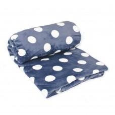 Fleece blanket Sweet TM Emily dark grey with polka dots 150х210 cm