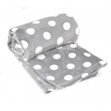 Fleece blanket Sweet TM Emily light grey with polka dots 150х210 cm