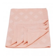 Plaid knitted Tenderness SoundSleep light pink 90x130 cm