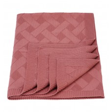 Plaid knitted Tenderness SoundSleep dry rose 90x130 cm