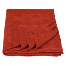 Plaid knitted Tenderness SoundSleep terracotta 130x170 cm