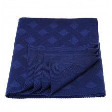 Plaid knitted Tenderness SoundSleep dark-blue 90x130 cm