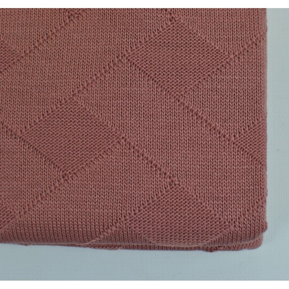 Плед вязанный Tenderness SoundSleep сухая роза 130x170 см