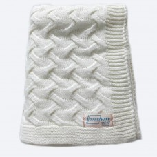 Plaid knitted SoundSleep Varanasi 140х180 cm milky