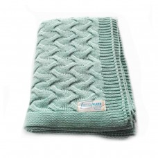 Plaid knitted SoundSleep Varanasi mint 140х180 cm