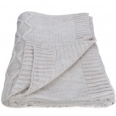 Plaid knitted SoundSleep Carmel Ivory