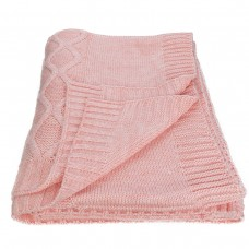 Plaid knitted SoundSleep Carmel peach