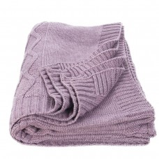Plaid knitted SoundSleep Carmel purple