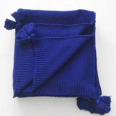 Плед SoundSleep Olvia вязаный 140х180 см темно-синий