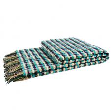 Плед Влади Капри шерстяной 140х200 см бирюзовый