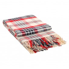 Plaid Vlad Metro woolen 140x200 cm dark blue-red-white MTR-04.01