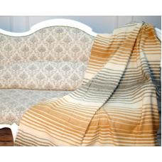 Плед Влади Мираж шерстяной 140х200 см бежево-серый