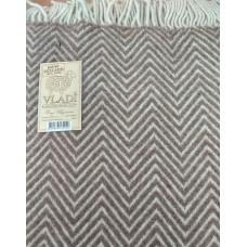 Плед Влади Шарлотта шерстяной 140х200 см бело-светло коричневый