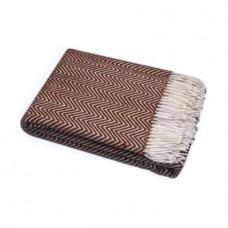 Plaid Vlady Charlotte woolen 140x200 cm white-brown CHR-01.03