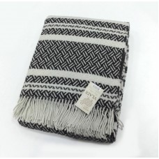 Plaid Vlad Sharm wool 140х200 cm white-gray-dark gray