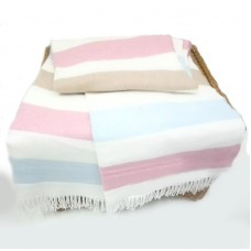 Plade London in a strip of white beige-pink-blue