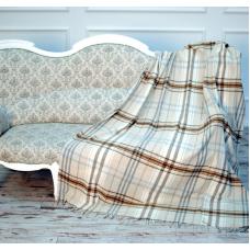 Плед Влади Модена №2 140х200 см бежево-коричневый