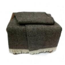 Plaid Vladi Montreal woolen 140x200 cm brown