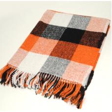 Плед Влади Palermo №8 оранжево-черно-белый