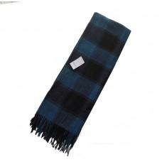 Плед Влади Palermo №4 140х200 см бирюзово-синий+черный
