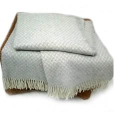Плед Влади Жасмин шерстяной 140х200 см бело-светло-серый