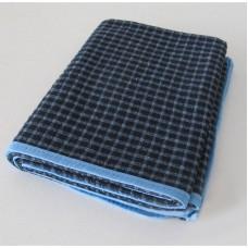 Plaid blanket Vladi Blue-black