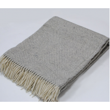 Plaid Vladi Lil woolen 140x200 cm white-sour gray
