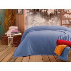 Покрывало-простынь вафельная Elita Pique mavi голубая 220х240 см
