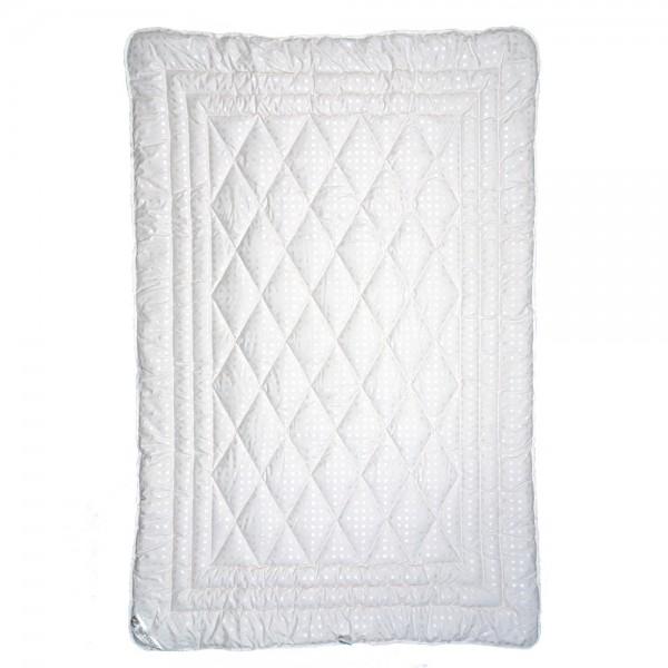 Одеяло Славянский пух Kaschmir полушерстяное зимнее стеганое белое 142х205 см 1700г