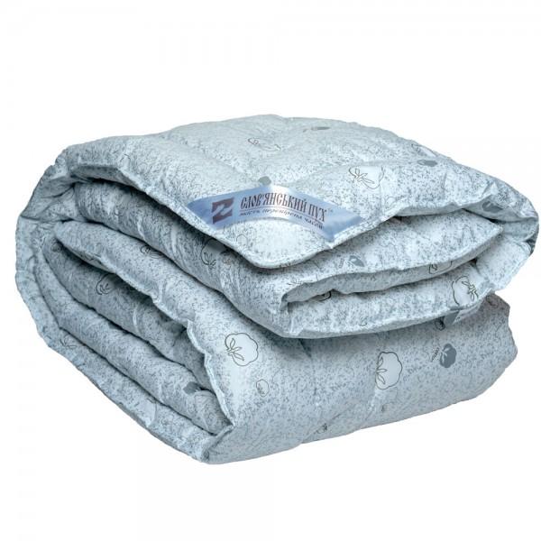 Одеяло Славянский пух Био хлопок антиаллергенное зимнее стеганое кремовое 142х205 см 1300г